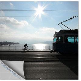 StadtSicht Zürich 009c, Tram Velo Quaibrücke 001