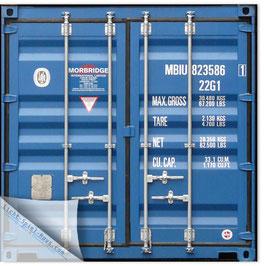 StadtSicht Hamburg 032c, Container Rückenansicht blau 002