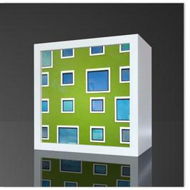 Quadratleuchte, KH Grüne Fenster 001