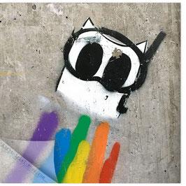 StadtSicht Zürich 149a, Regenbogen Graffiti 001