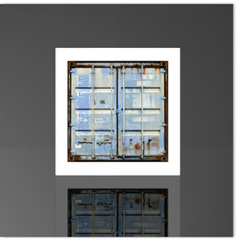 Würfelleuchte, HH Container blau 202b