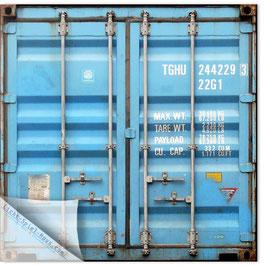 StadtSicht Hamburg 018d, Container Rückansicht hellblau 001