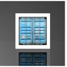 Würfelleuchte, HH Container hellblau 001