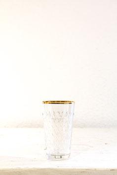 Geripptes Apfelweinglas 0,25l mit Goldrand
