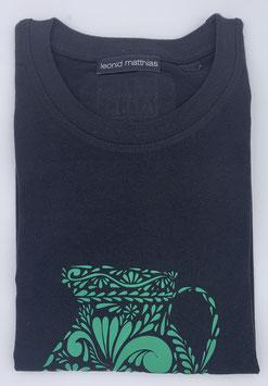 "Ak-Herren  - organic Bembel-Shirt "" grün auf schwarz"""