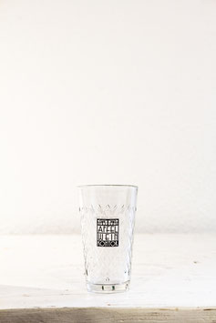 Geripptes Apfelweinglas 0,25l mit Logo des Apfelweinkontors