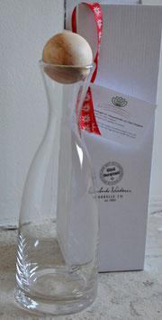 Wasserkaraffe Glasi mit Arvenkugel Engadin