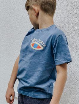 "Kindershirt ""SOULMATE"" blau"