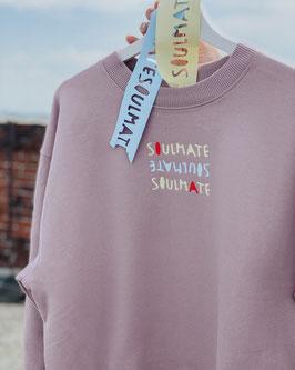 """Sweatshirt """"SOULMATE"""" purple rosé"""