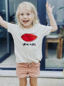 """Kindershirt """"love rules"""""""