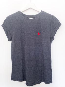 """Shirt schwarz/weiß gestreift """"Herz"""""""