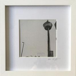 Fernsehturm schwarz/weiß