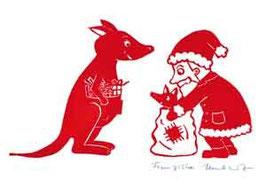 Weihnachtsmann und Känguru