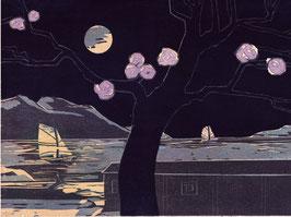 Landschaft mit Kirschblüten