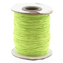 84858 Elastiek omwikkeld met katoen licht groen 1mm, prijs per meter