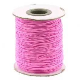 84852 Elastiek omwikkeld met katoen roze 1mm, prijs per meter