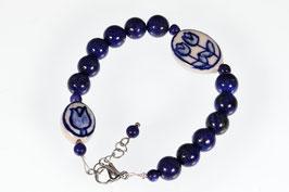 Delftsblauwe armband Lapis Lazuli DB-2050