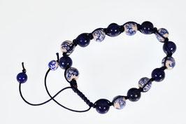 Delftsblauwe armband Lapis Lazuli DB-2056