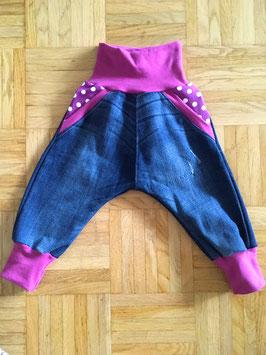 *Baggy* Jeans in Grösse 80 - Violet dots
