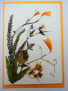 """3er Set Blüten-Faltkarten """"Blütenträume in gelb"""" BFP7"""
