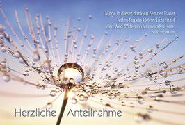 Trauer-Faltkarte: Kleiner Lichtstrahl