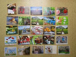 25 Postkarten HIER und JETZT