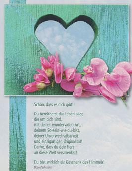 Große Postkarten im 8er Set DU BIST EIN GESCHENK