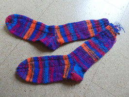 Strick-Socken Gr. 39/40 crazy bunt