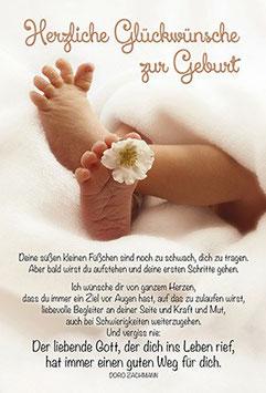 Faltkarte: Deine süßen kleine Füße