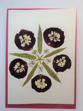 """3er Set Blüten-Faltkarten """"Mandala rot"""" BFP9"""