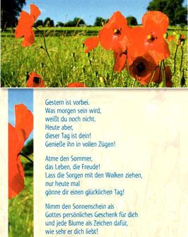 Große Postkarte: Mohnblumen - dieser Tag ist dein