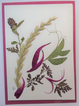 """3er Set Blüten-Faltkarten """"Rot-Töne"""" BFP8"""