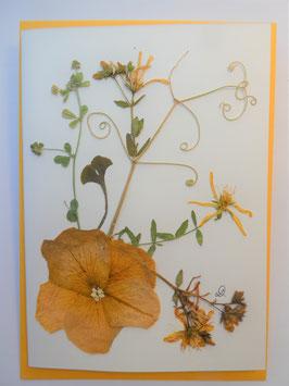 "3er Set Blüten-Faltkarten ""yellow dream"" BFP1"