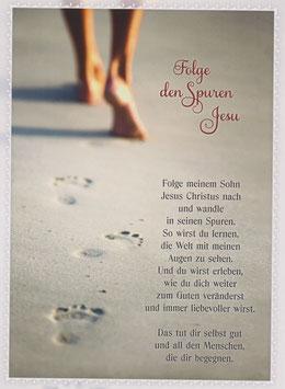 Füße im Sand - Folge den Spuren Jesu