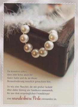 Perlenkette - wunderbare Perle (aus Krise entstanden)