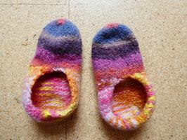 Filz-Hausschuhe / Pantoffeln für Kinder Gr. 29/30 bunt