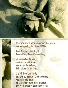Postkarte: Rose aus Stein - Deinen Schmerz