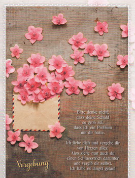 Brief mit Blüten - Vergebung