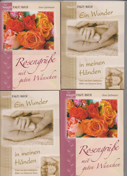 4 große Faltbücher: 2 Baby + 2 Rosen