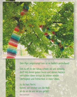 GroßePostkarte: Umstrickter Baum - verrückte Ideen