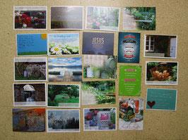 22 Postkarten CHRISTLICHE TEXTE