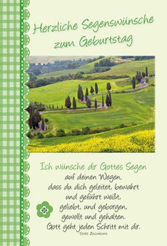 Faltkarte: Weg im Grünen -  Herzliche Segenswünsche