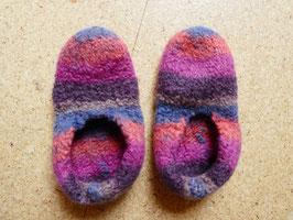Filz-Hausschuhe / Pantoffeln für Kinder Gr. 29/30 pink/orange/braun/blau