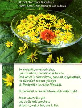 Blumenschale - Du bist etwas Besonderes
