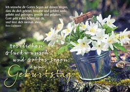 Geburtstags-Faltkarte: Gott geht jeden Schritt mit