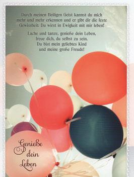 Luftballons - Genieße dein Leben