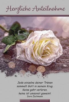 Trauer-Faltkarte: Gott sammelt deine Tränen