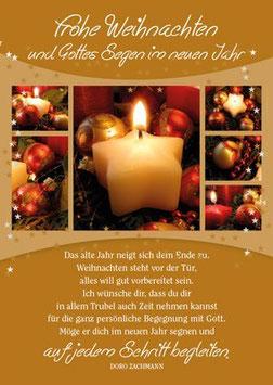 Weihnachts-Faltkarte: Das alte Jahr