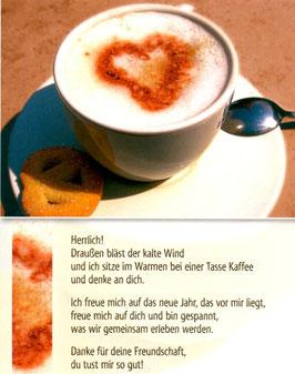 Tasse Kaffee - draußen bläst der Wind