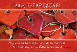 Faltkarte: Rote Herzen - Noch mehr als sonst